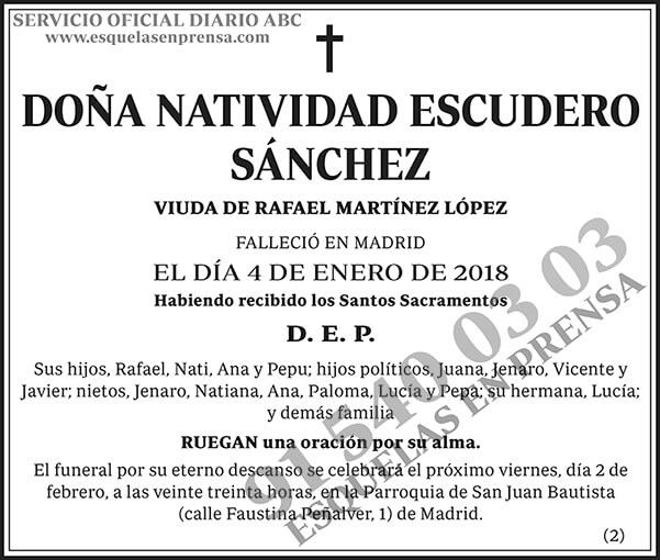 Natividad Escudero Sánchez